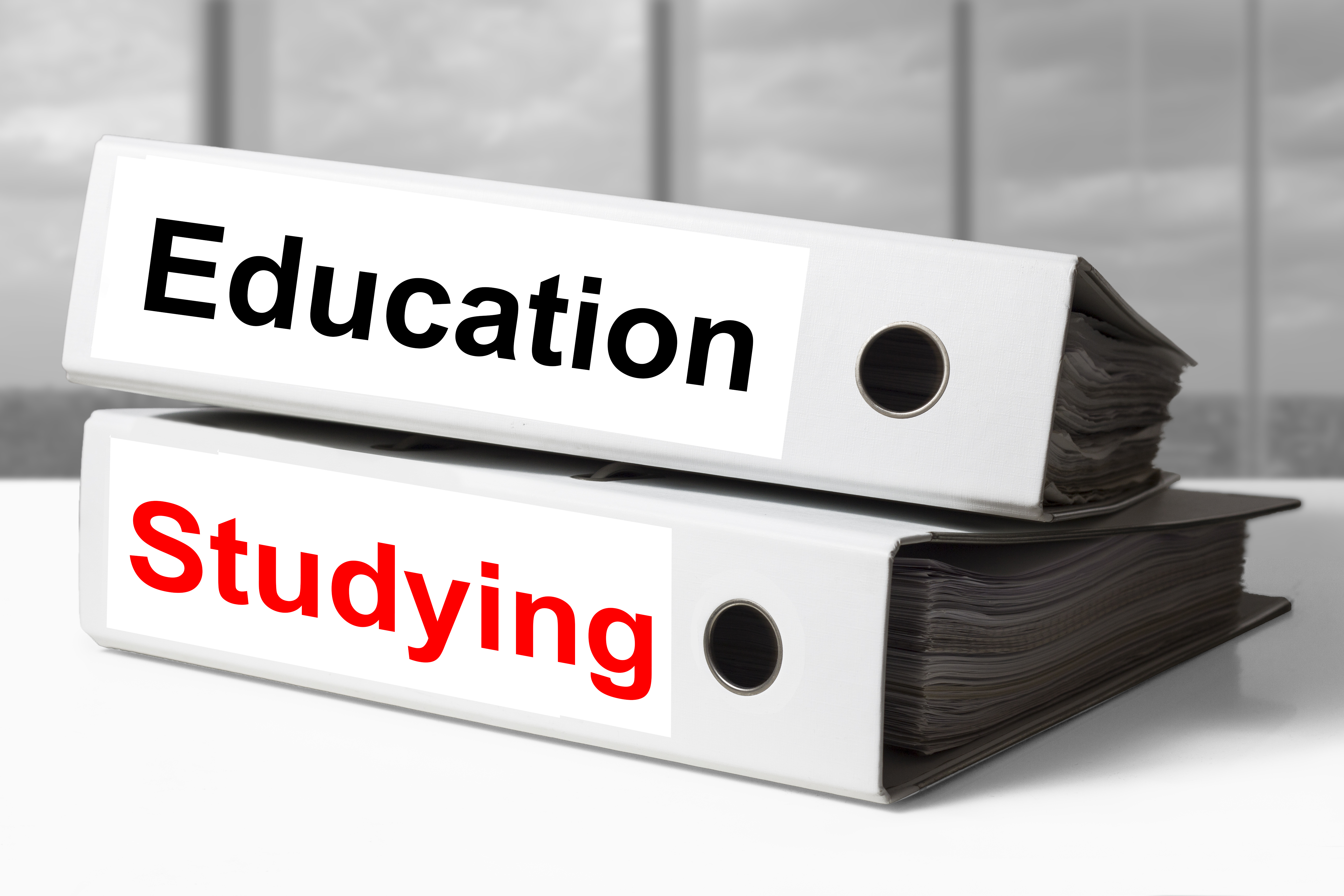Education and studying binders